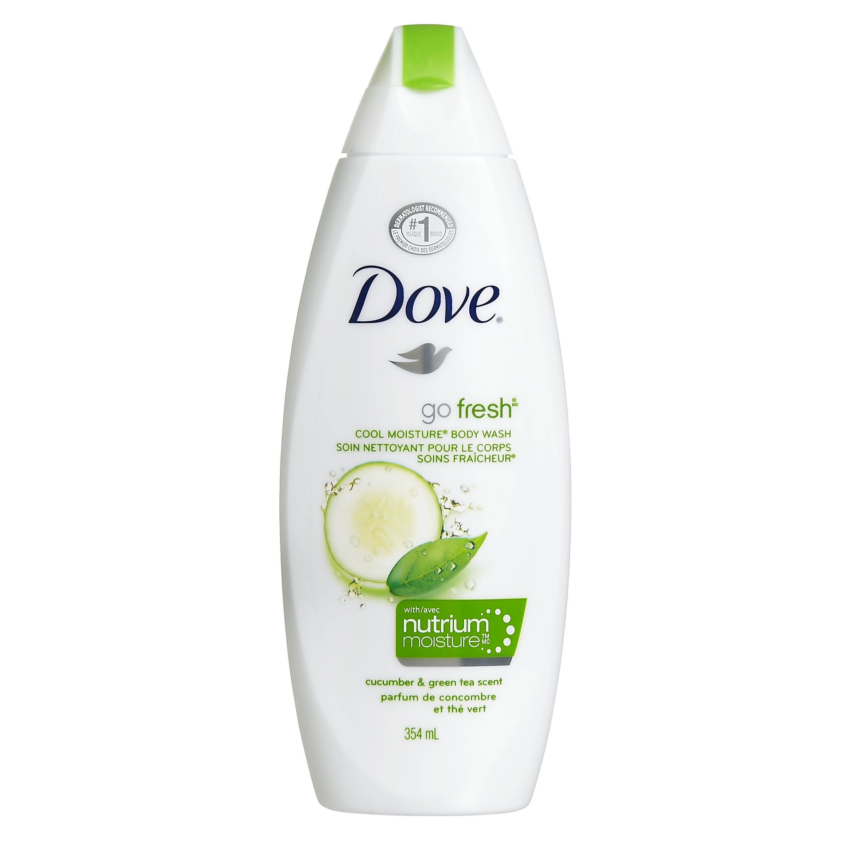 Dove Go Fresh Cool Moisture Body Wash Cucumber and Green Tea Scent 354 mL