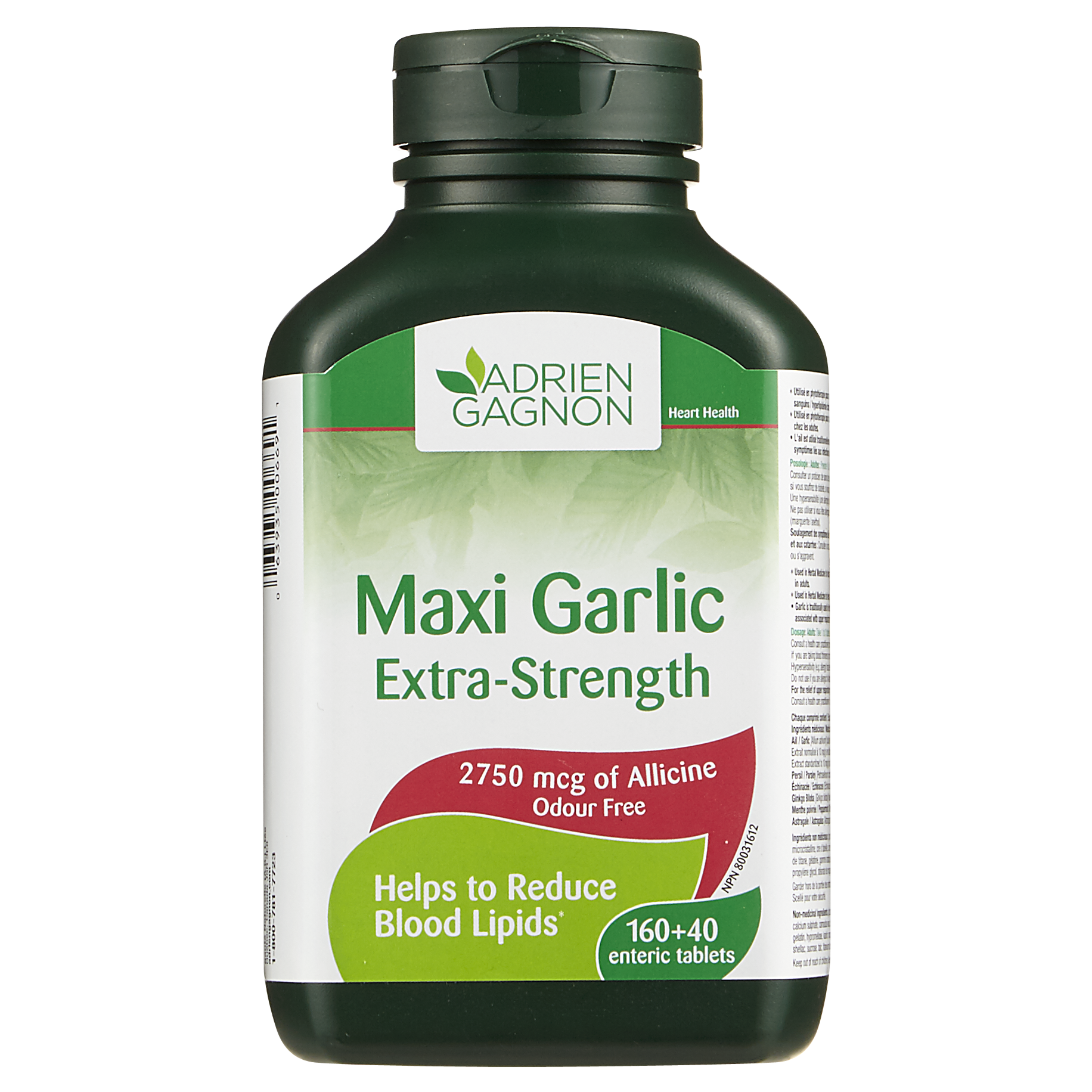 AG Natural Health Maxi Garlic Extra Strength Allicine 2750 mcg x 200 Tablets